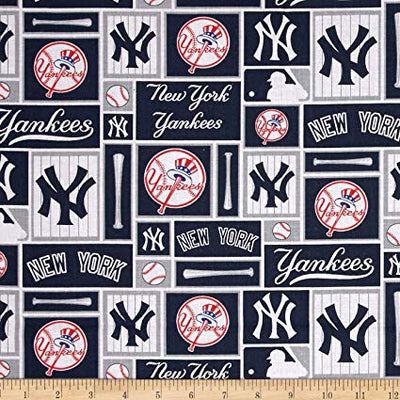 MLB Broadcloth New York Yankees 100% Cotton Fabric