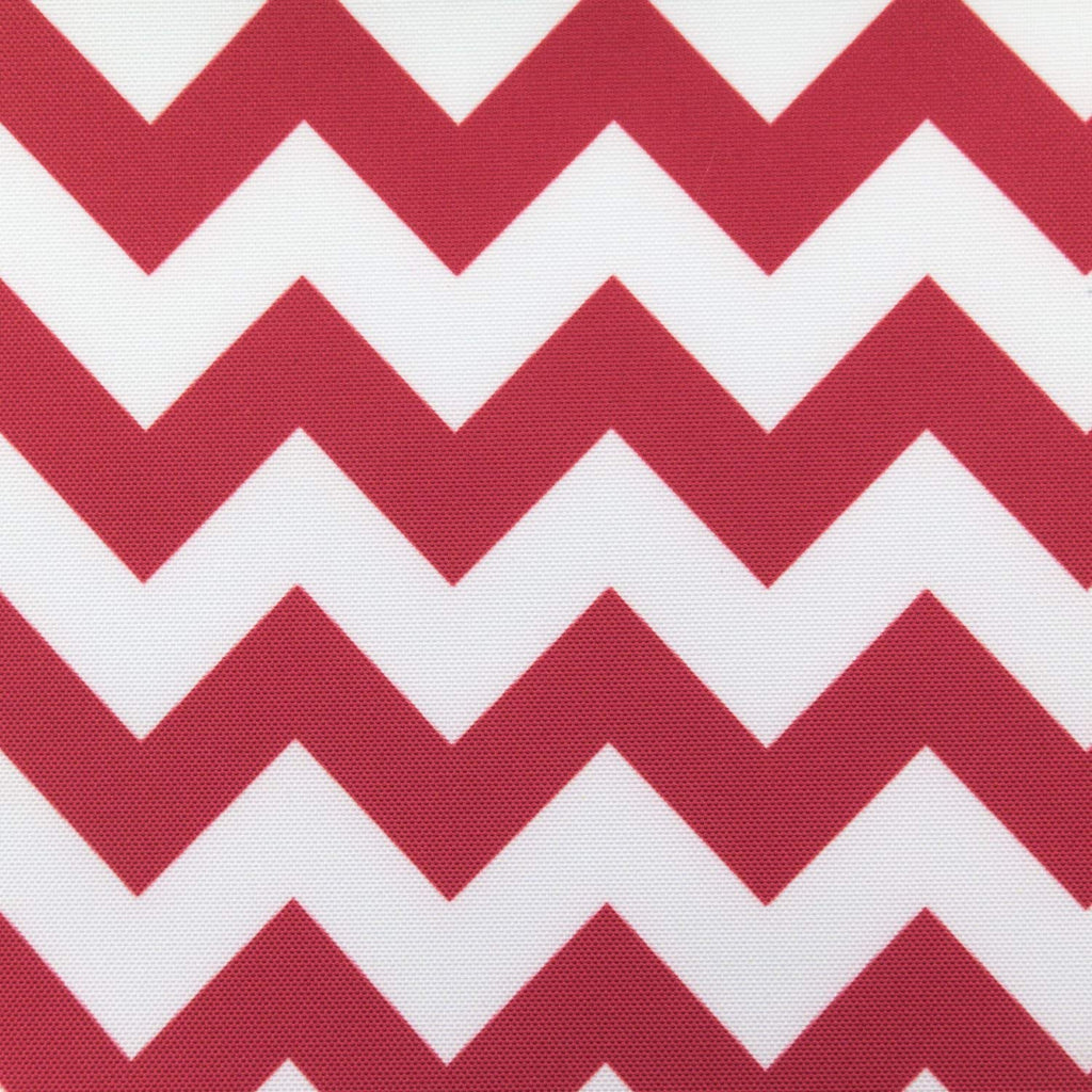 Waterproof Chevron Red and White Brown Canvas Outdoor fabric