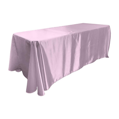 Lilac Bridal Satin Rectangular Tablecloth 90 x 156