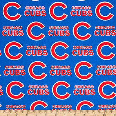 MLB Broadcloth Chicago Cubs Blue 100% Cotton Fabric
