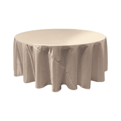 Silver Bridal Satin Round Tablecloth 132