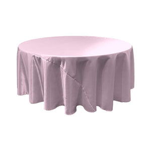 Lilac Satin Round Tablecloth 120""