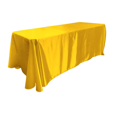 Yellow Bridal Satin Rectangular Tablecloth 90 x 156