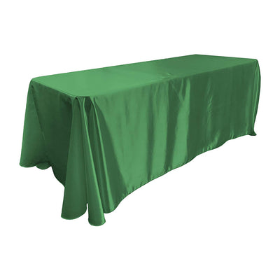 Kelly Green Bridal Satin Rectangular Tablecloth 90 x 156
