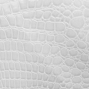 "White Vinyl Crocodile, 55"" Inches Wide"