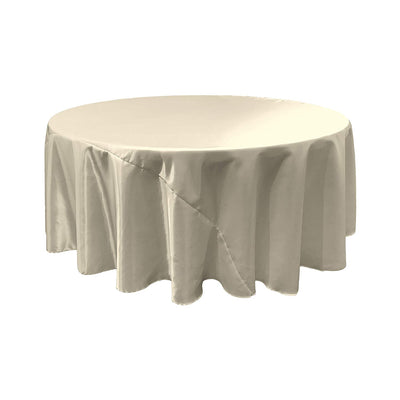 Ivory Satin Round Tablecloth 120