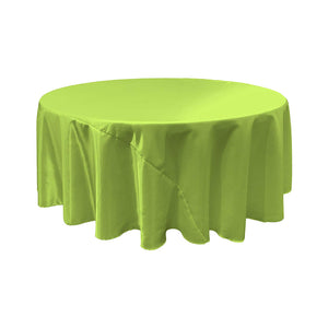 Lime Bridal Satin Round Tablecloth 120""