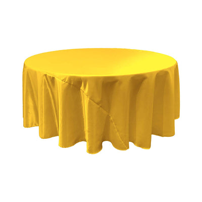 Yellow Satin Round Tablecloth 120