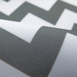 Waterproof Chevron Gray and White Canvas Outdoor fabric