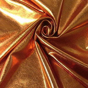 Copper Spandex Lame Foil Stretch Metallic Fabric