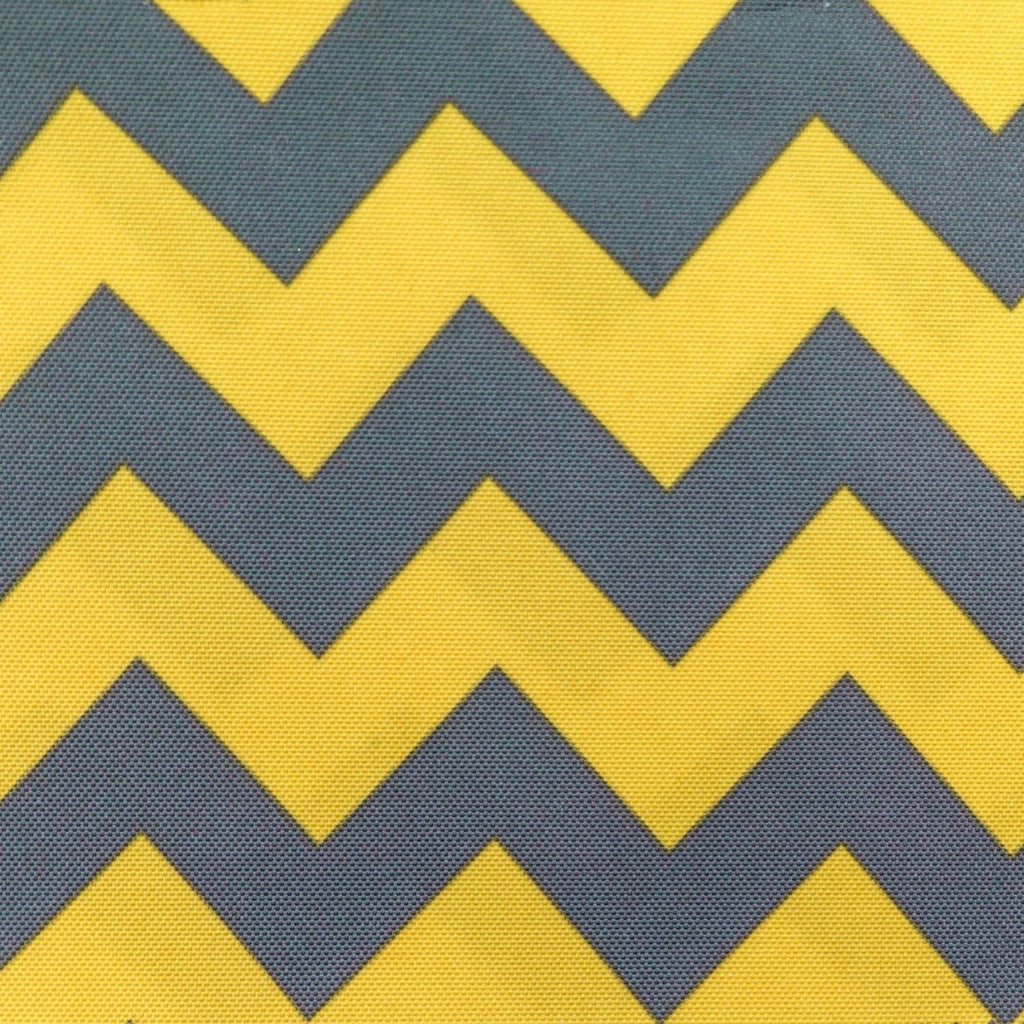 Waterproof Chevron Gray and Yellow Canvas Outdoor fabric