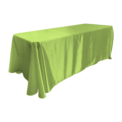 Lime Bridal Satin Rectangular Tablecloth 90 x 156