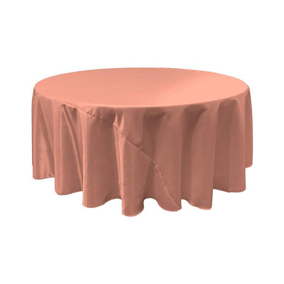 Dusty Rose Bridal Satin Round Tablecloth 132