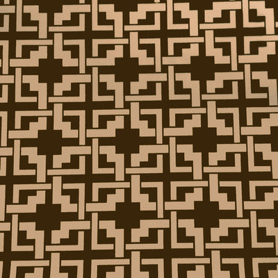 Khaki Brown Puzzle Style Canvas Waterproof Outdoor Fabric