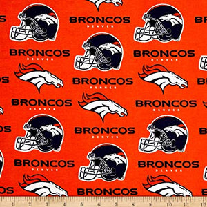NFL Broadcloth Denver Broncos 100% Cotton Print Fabric
