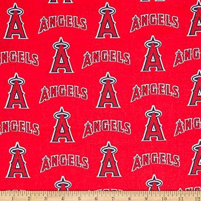 MLB Broadcloth Los Angeles Angels of Anaheim 100% Cotton Fabric
