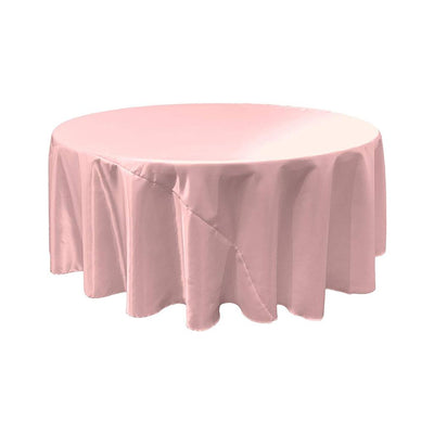 Light Pink Bridal Satin Round Tablecloth 132