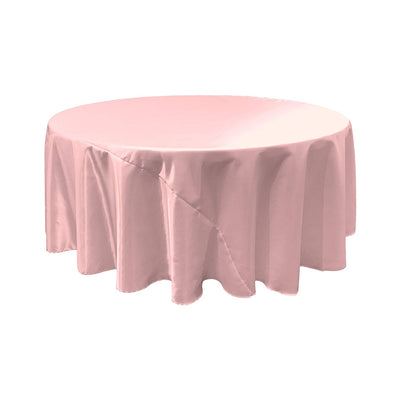 Light Pink Bridal Satin Round Tablecloth 120