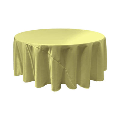 Sage Bridal Satin Round Tablecloth 132
