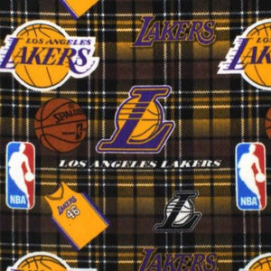 Los Angeles Lakers Plaid NBA Fleece Fabric