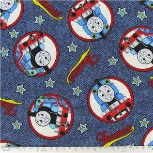 QT Fabrics VIP Thomas Toss Blue 100% Cotton Fabric