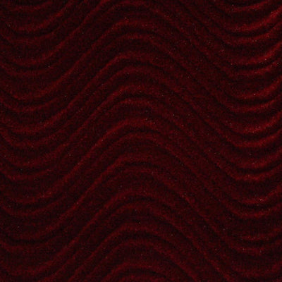 Burgundy Velvet Flocking Swirl Upholstery Fabric
