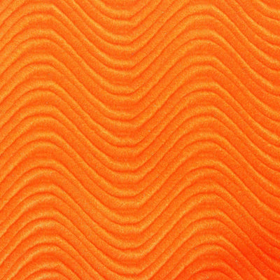 Orange Wave Swirl Flocking Velvet Fabric