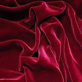 Dark Red Silk Velvet Fabric