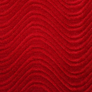 Ruby Velvet Flocking Swirl Upholstery Fabric