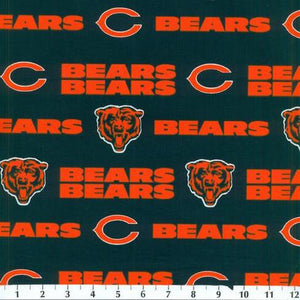 Chicago Bears 100% Cotton Print Fabric