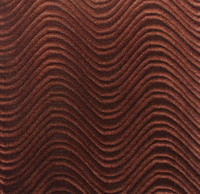 Brown Velvet Flocking Swirl Upholstery Fabric