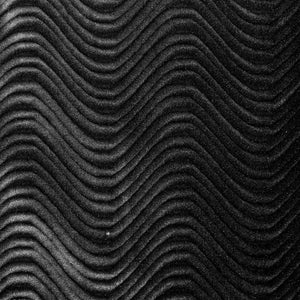 Black Velvet Flocking Swirl Upholstery Fabric