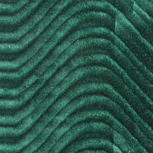 Green Velvet Flocking Swirl Upholstery Fabric
