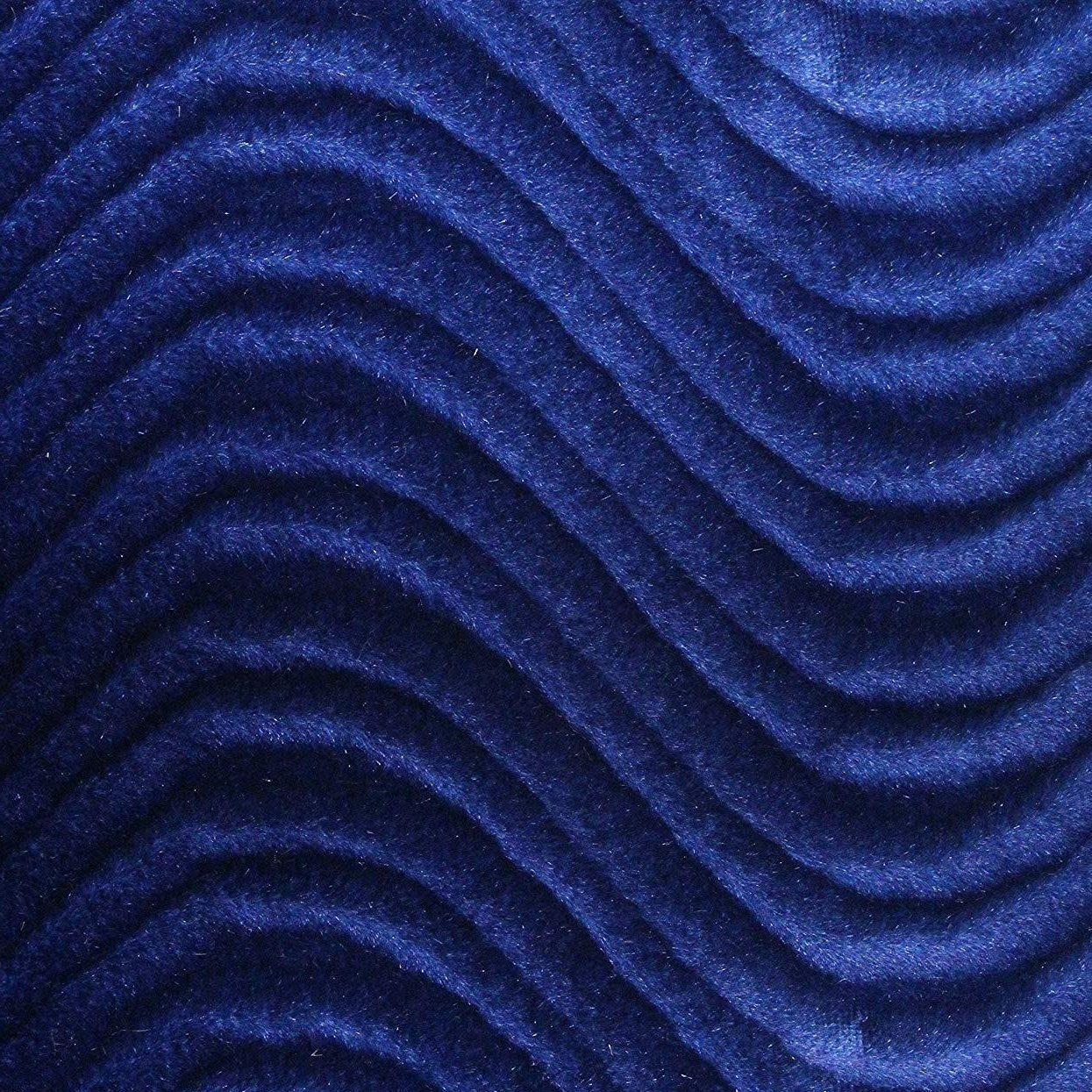 Royal Blue Velvet Flocking Swirl Upholstery Fabric Ifabric