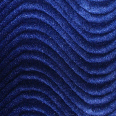 Royal Blue Wave Swirl Flocking Velvet Fabric