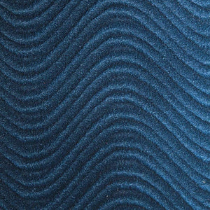Navy Blue Velvet Flocking Swirl Upholstery Fabric