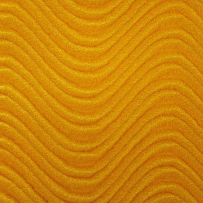 Gold Wave Swirl Flocking Velvet Fabric