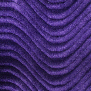 Purple Velvet Flocking Swirl Upholstery Fabric