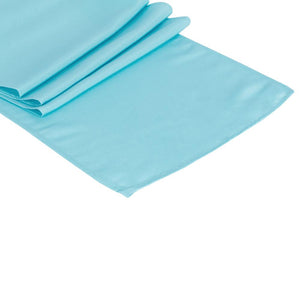 Baby Blue Polyester Table Runner
