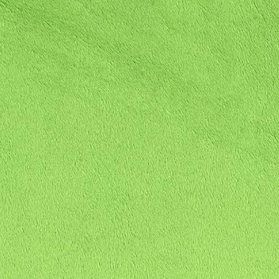 Lime Solid Minky Fabric