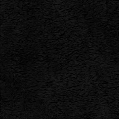 Black Solid Minky Fabric