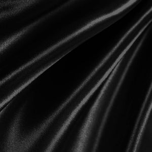Bridal Satin Black Fabric