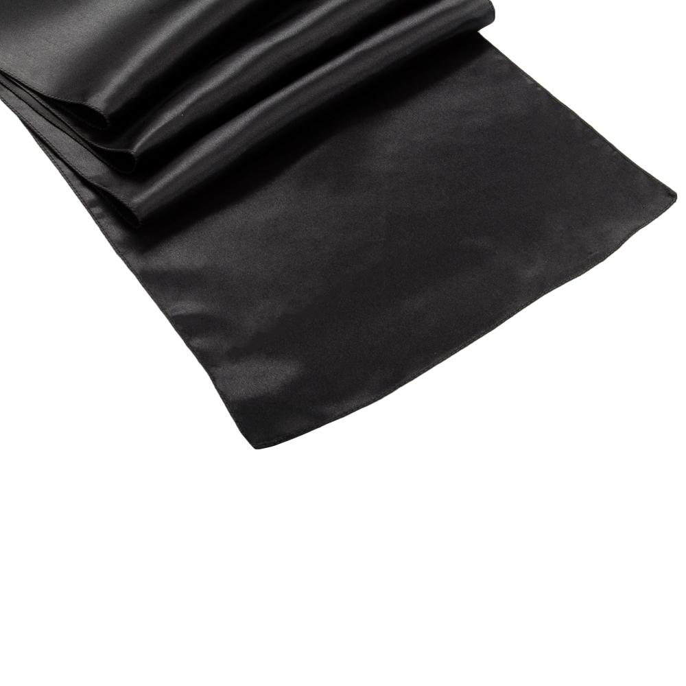 Black Satin Table Runner | IFabric