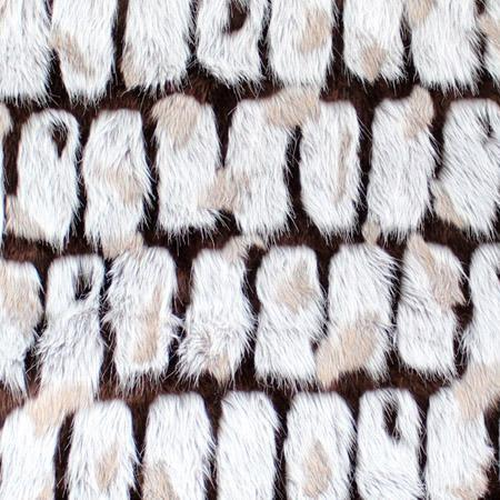 Brown Gray Bricks Faux Fur Long Pile Fabric