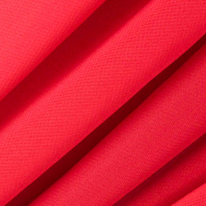 Bright Red Chiffon Fabric