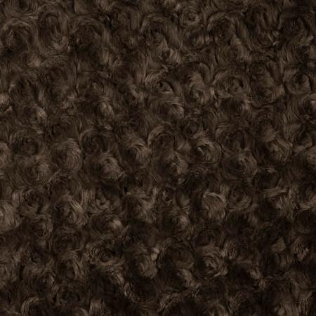 Brown Minky Rosebud Fabric