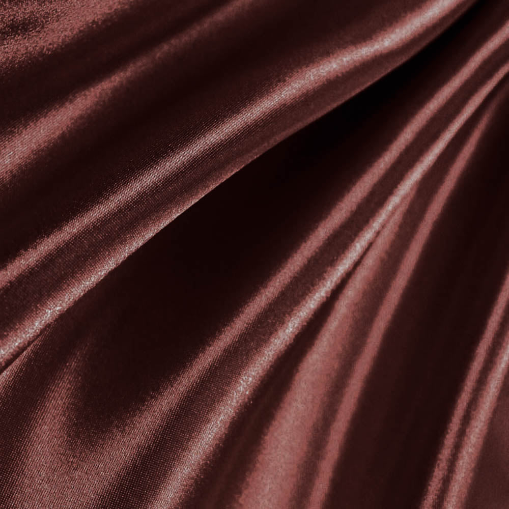 Bridal Satin Brown Fabric