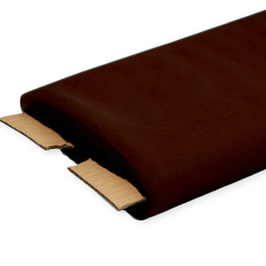 "Brown Nylon Tulle Fabric, 54"" Inches Wide - 40 Yards By Roll"
