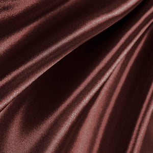 Brown Poly Satin Fabric