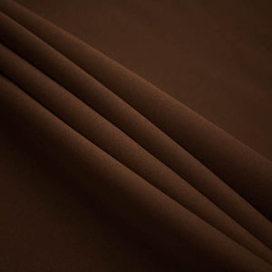Brown Polyester Poplin Fabric